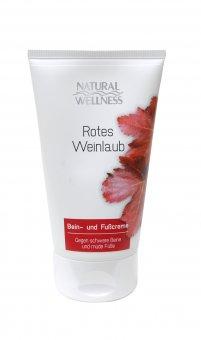 Natural Wellness - Rotes Weinlaub - Bein- und Fußcreme 150 ml