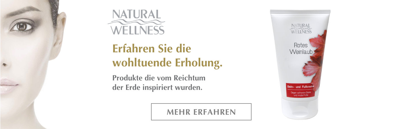 Natural Wellness Rotes Weinlaub